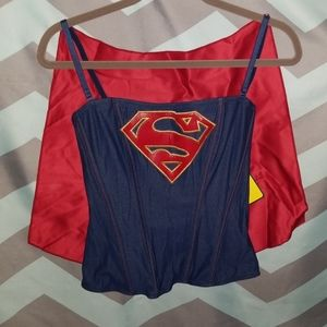 Corset with Cape supergirl size M